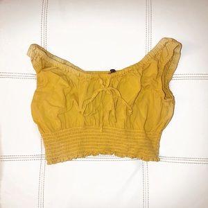 Brandy Melville Yellow Crop Top